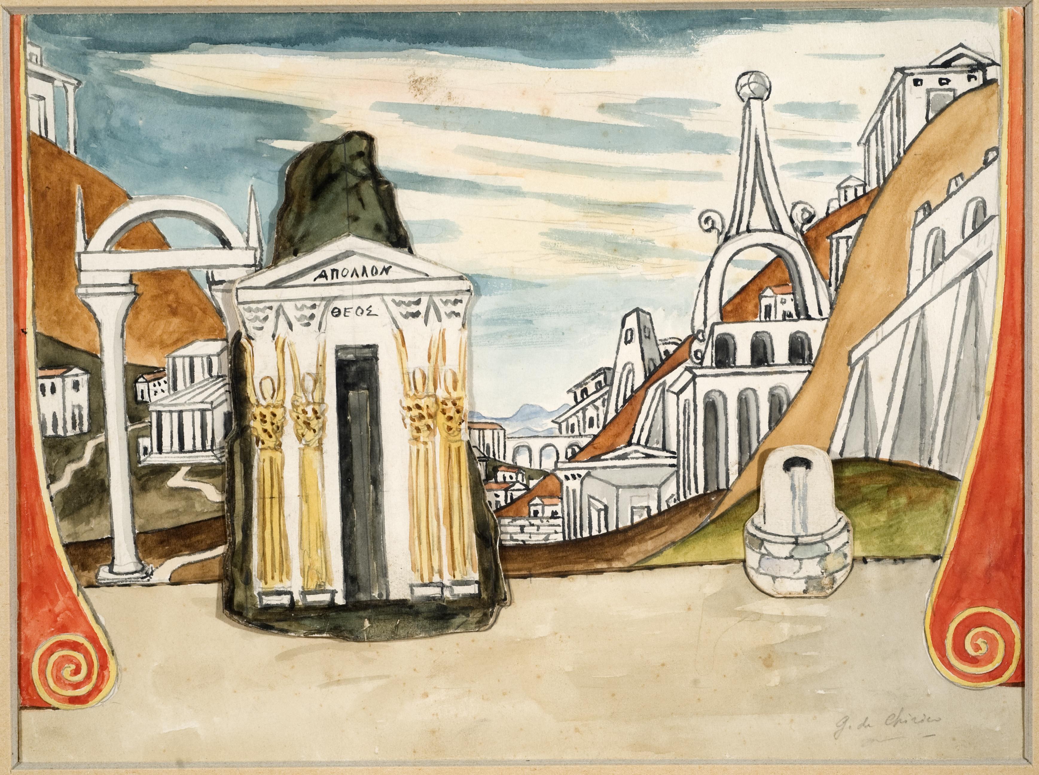 5048306 De Chirico Giorgio Volos 1888 Roma 1978 La città di